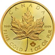 Goldmünze Maple Leaf, 50 C$ 1 Unze