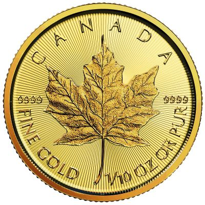 Goldmünze Maple Leaf, 5 C$ 1/10 Unze