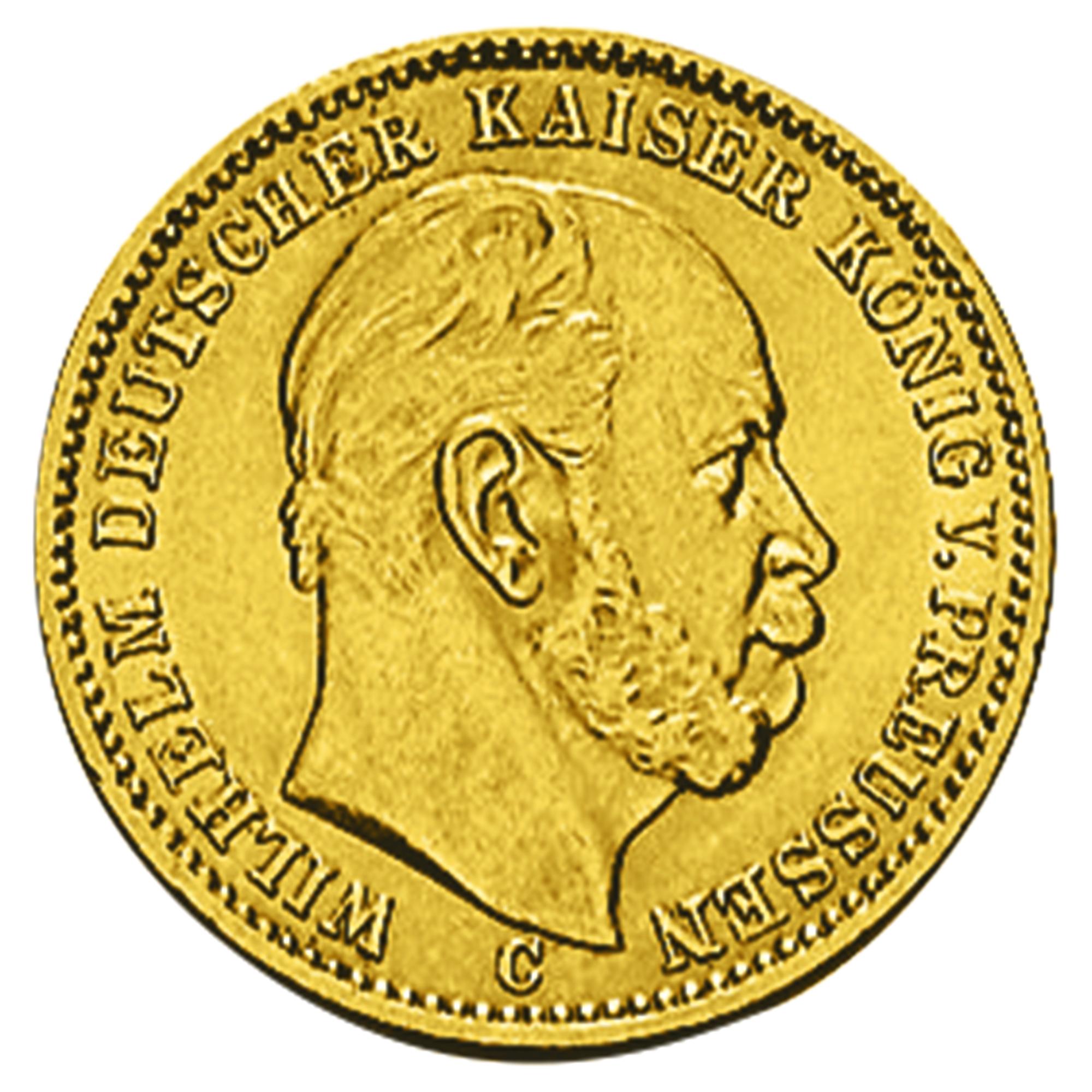 20 Goldmark Wilhelm I Goldmünze Kaufen Haspa Goldshop Haspashop
