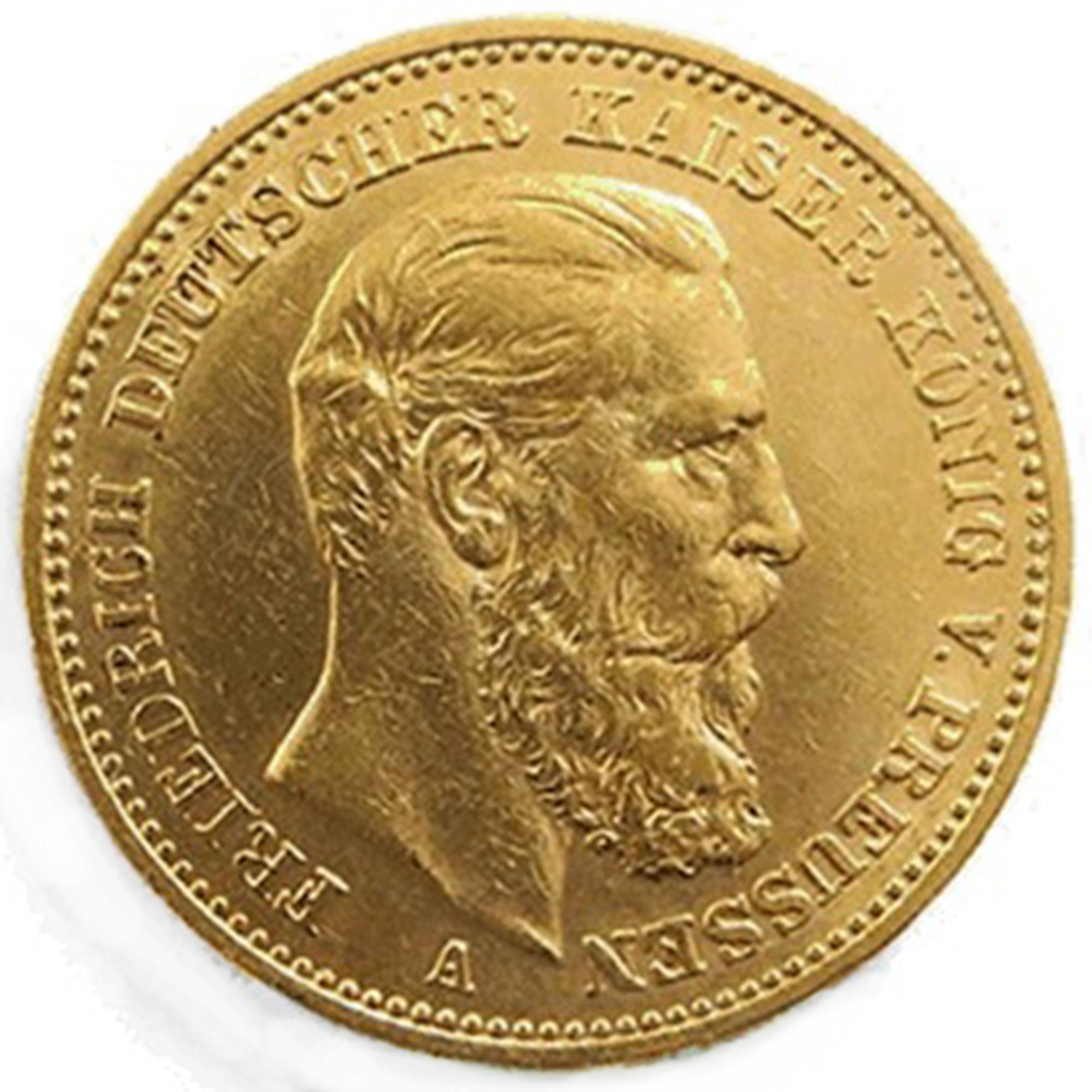 20 Mark 1888 Kaiserreich Gold Friedrich Iii Preußen Kaufen Haspashop