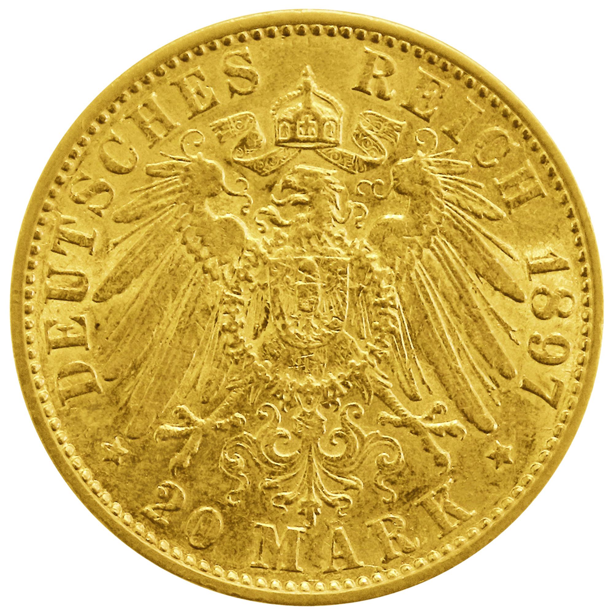 Goldmünze Hamburg 20 Goldmark Kaufen Haspa Goldshop Haspashop